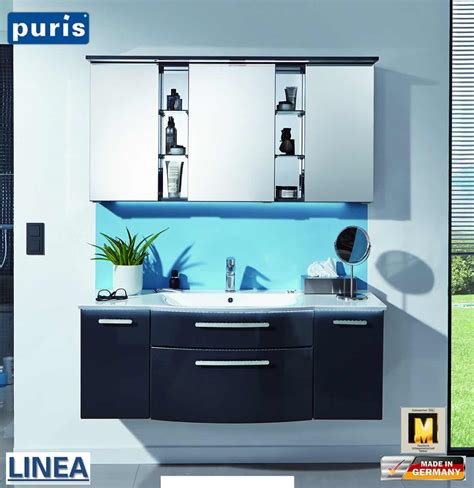 Set Liena puris linea badm 246 bel set 130 cm mit regal spiegelschrank