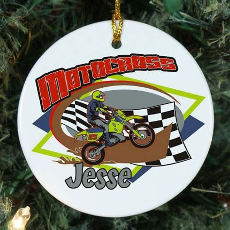 personalized motocross gear personalized ceramic motocross ornament giftsforyounow com