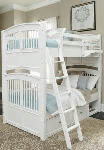 White Bunk Bed With Storage Walnut White Hayden Bunk Bed With Storage 8051ns Ne