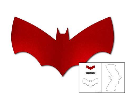 template for batwoman chest emblem the foam cave