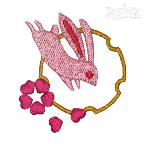 embroidery design rabbit jumping rabbit embroidery designs