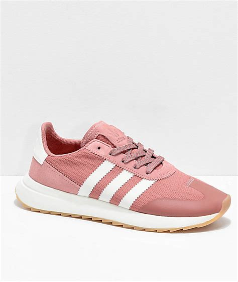 adidas flashback pink white shoes zumiez