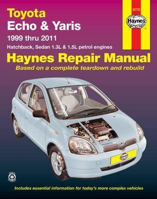 Toyota Echo Yaris 1999 2009 Gregorys Service Repair Manual