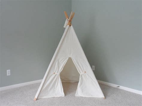 kids teepee kids teepee play tent play fort natural cotton childrens
