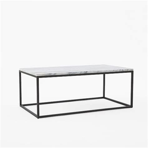 Frame Coffee Table Box Frame Coffee Table Marble Antique Bronze West Elm