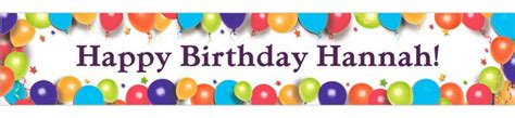 How To Make A Happy Birthday Banner Of Paper - custom happy birthday banners happy birthday signs