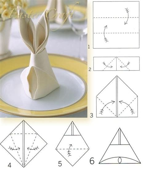 Table Napkin Origami - 25 napkin folding techniques that will transform your