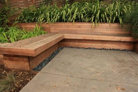 planter box with bench build your own wooden planter