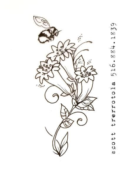 honeysuckle tattoo designs honeysuckles with bumble bee in designs by gimmie
