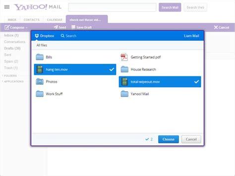 dropbox yahoo 187 dropbox functionality added to yahoo mail