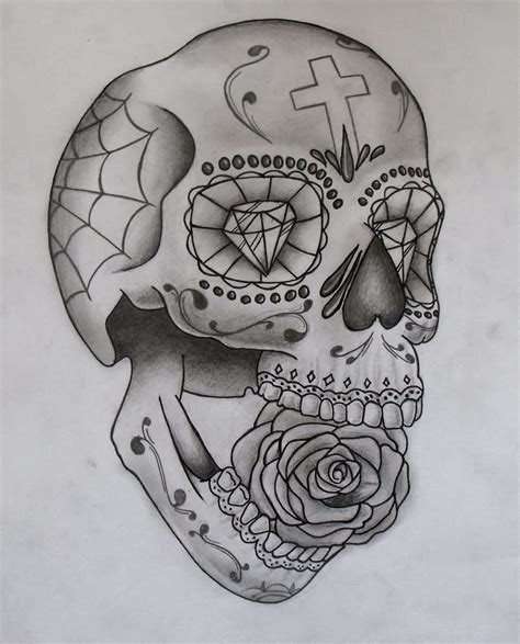 skull tattoo with diamond eyes 21 awesome mexican tattoo designs