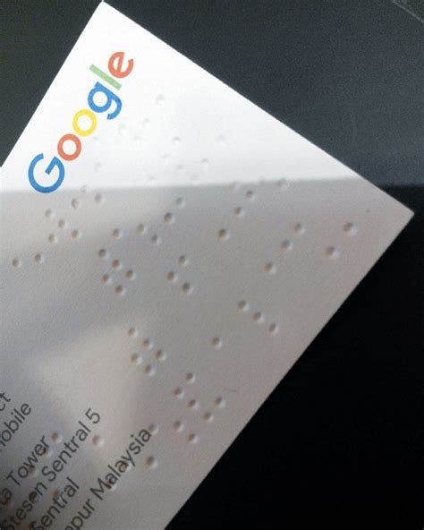 braille business card braille business card