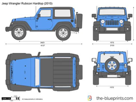 Jeep Wrangler Drawing The Blueprints Vector Drawing Jeep Wrangler