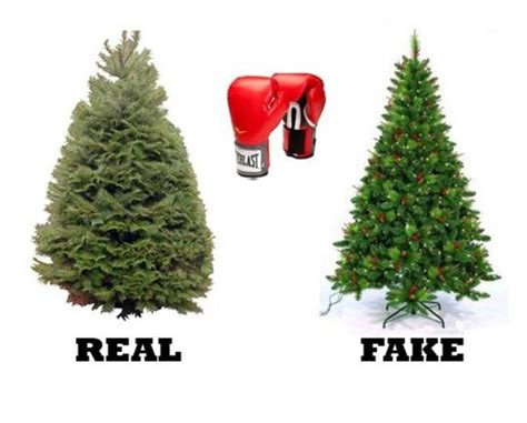 real vs artificial christmas tree