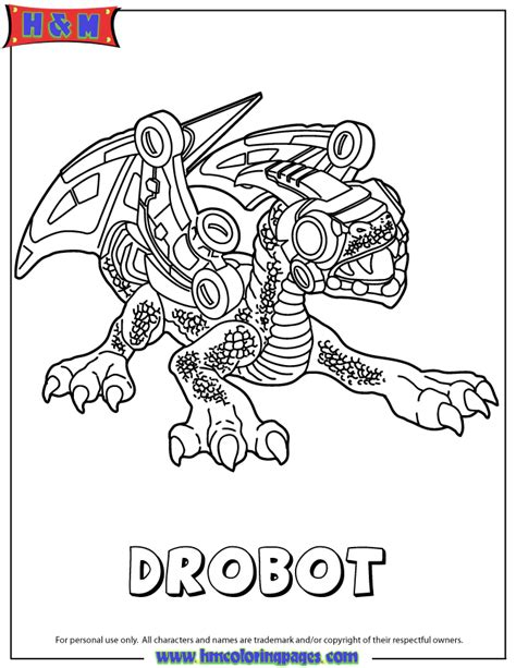 skylanders giants tech series2 drobot coloring page h