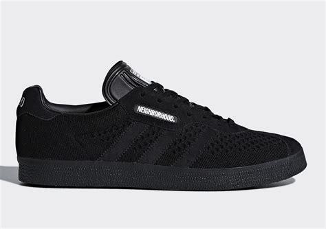 neighborhood x adidas four shoe collaboration release info sneakernews