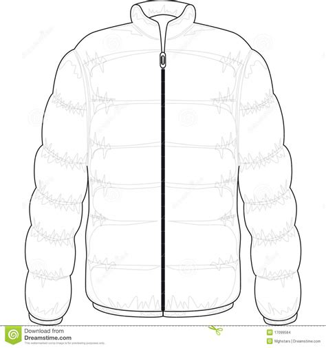 winter coat template winter jacket stock images image 17099584