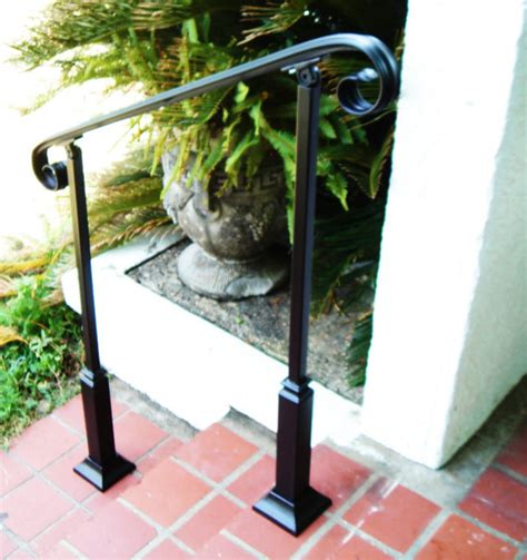 Single Stair Handrail 4 Ft Wrought Iron Handrail Step Rail Stair Rail With