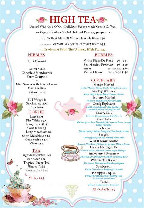 tea menu template afternoon tea menu template 17 best images about tea room