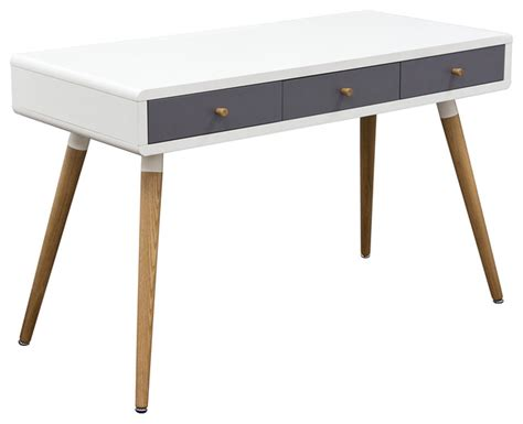 mid century modern desk 2 tone retro 3 drawer desk midcentury desks and