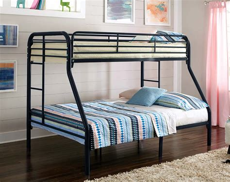 bunk beds twin over twin twin over full black metal bunk bed american freight