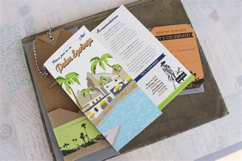 Travel Brochure Wedding Invitation by Travel Brochure Wedding Invitation Palm Springs Ca