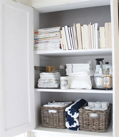 Storage Ideas For Comforters by 12th And White The Linen Closet Small Space Storage