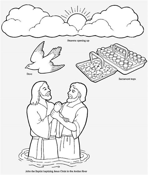 john the baptist baptism jesus coloring pages john the baptist coloring page 425845