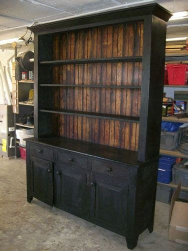 Reclaimed Wood Hutch And Buffet Black Milk Painted Hutch Home Inspirations Pinterest