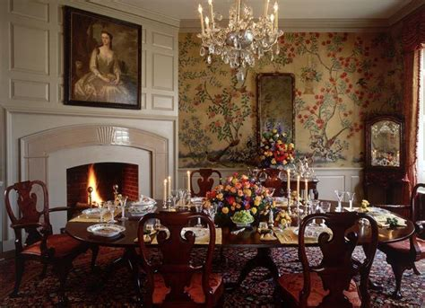 historic colonial interiors images dining room