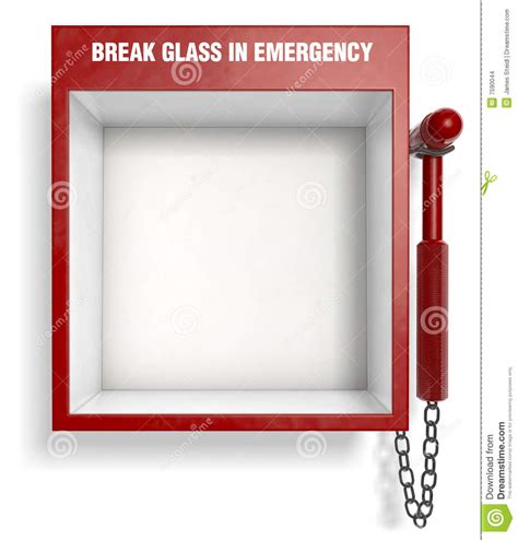 break glass in emergency stock images image 7590044