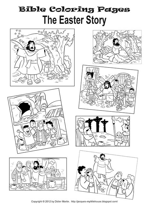 story coloring pages my house the easter story and easter coloring