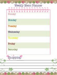 printable dinner menu template free printable weekly dinner planner template calendar