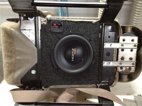 seat subwoofer box 2015 silverado 2003 chevrolet silverado gets a hertz audison audio