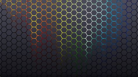 black hexagon pattern glowing hexagon pattern wallpaper 1023752