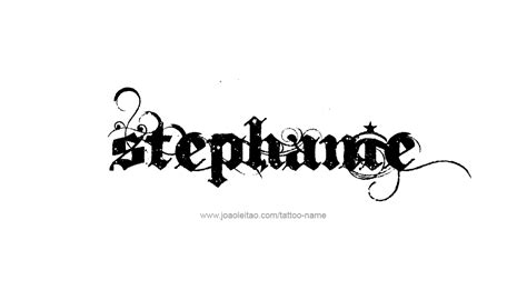 stephanie tattoo designs name designs