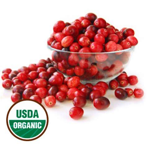 fresh frozen organic cranberries