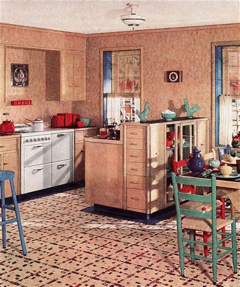 1930s Kitchen Floors by 1936 Armstrong Linoleum Kitchen Ad Design Inspiration