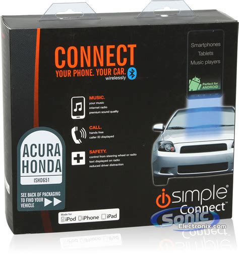 Isimple Acura Tl by Isimple Connect Ishd651 Bluetooth Smartphone Integration
