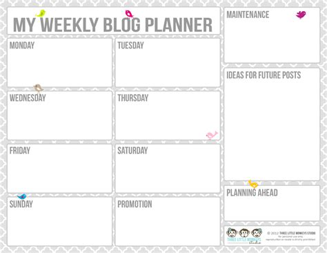 free printable blog planner pages 20 free printable blog planners fab n free