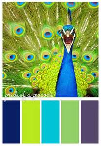 colors of a peacock peacock color scheme projects to try