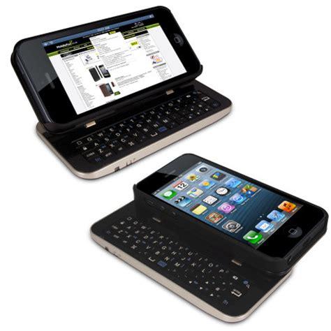 wireless sliding keyboard  case  iphone  black