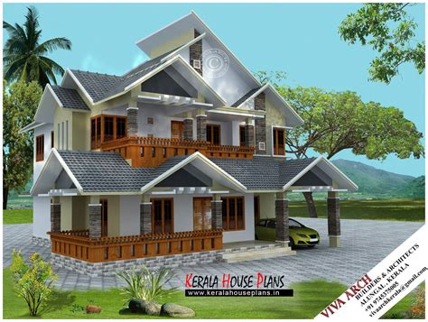 village style house plans 2680 sq ft kerala village style slope roof house kerala