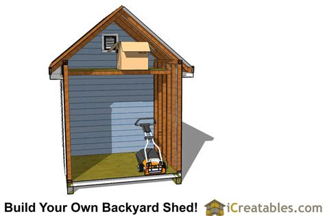 Garden Shed Plans 8x12 by 8x12 Traditional Backyard Shed Plans
