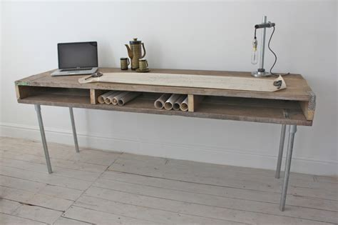 Wood Desk With Metal Legs by Wood Desk Furniture Reclaimed Wood Desk With Metal Legs Solid Wood Writing Desk Interior