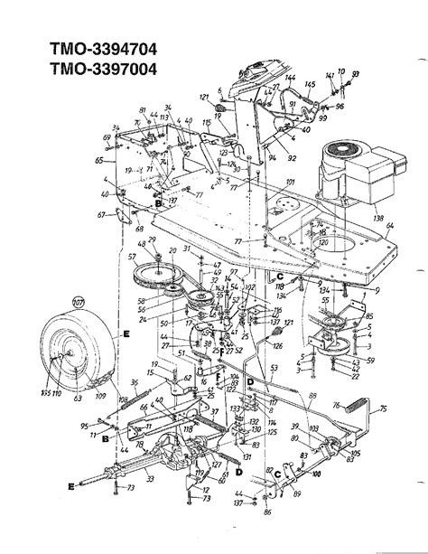 mtd mower parts 12 hp 38 quot lawn tractors page 2 diagram parts list for