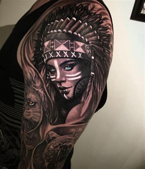 indian girl tattoo indian portrait best design ideas