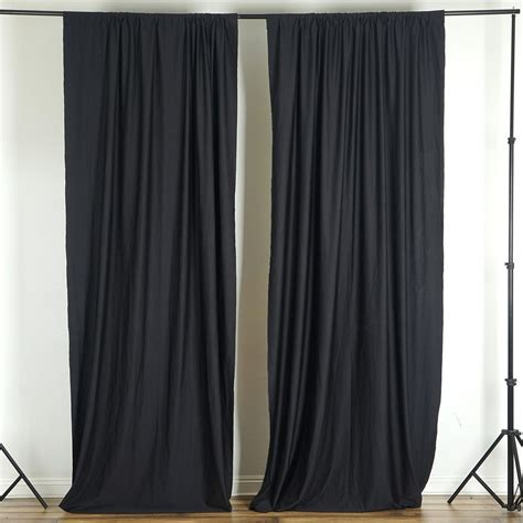 Black Backdrop Curtains 10ft Black Polyester Retardant Curtain Stage Backdrop Partition Premium Collection
