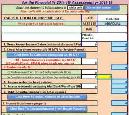 Income Tax Template by Free Tax Calculator Excel Templates 2014 2015