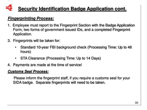 Sida Badge Background Check Ppt Authorized Signatory As New Company Information Powerpoint Presentation Id